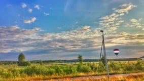 Heißluft-Ballon-Landschaft Lizenzfreie Stockfotos