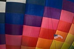 Heißluft-Ballon mit amerikanischer Flagge Lizenzfreie Stockfotos