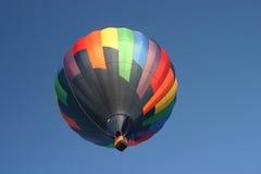 Heißluft-Ballon-Schwarzes multi Stockfoto