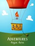 Heißluft-Ballonkorb der Luftfahrt Stockfotos