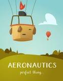 Heißluft-Ballonkorb der Luftfahrt Lizenzfreie Stockbilder