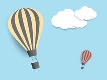 Heißluft Ballons im Himmel EPS10 Stockbild
