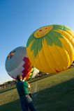 Heißluft-Ballonstarten Stockfoto