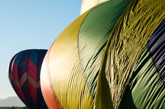 Heißluft baloons im Flug, die Festival durning sind Stockfotos