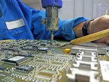 Heißluft für entfernt Teilkomponente für Reparatur Lizenzfreies Stockfoto