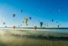 Heißluft Mondial Ballonwiedervereinigung in Lorraine France Lizenzfreie Stockfotos