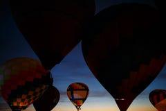 Heißluft steigt Festival in Pereslavl-Zalessky, Nachtflug Yaroslavl Oblast herein am 16. Juli 2016 im Ballon auf Lizenzfreies Stockbild