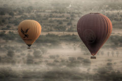 Heißluftballon 3 Birmania Stockfotos
