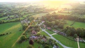 Heißluftballon - Buckinghamshire Großbritannien stock footage
