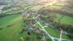 Heißluftballon - Buckinghamshire Großbritannien stock video