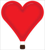 Heißluftballon des Herzens Lizenzfreies Stockbild