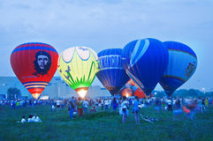 Heißluftballon Festival Stockbild