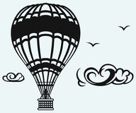 Heißluftballon im Himmel Stockfoto