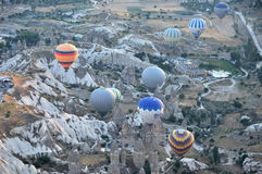 Heißluftballon im Truthahn Lizenzfreies Stockfoto