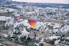 Heißluftballon im Truthahn Stockbild