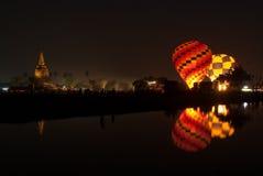 Heißluftballon in internationalem Ballon-Festival 2009 Thailands Lizenzfreies Stockbild