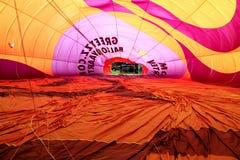 Heißluftballon photgrphed beim Bealton, VA-Flugwesen-Zirkus-Flugschau Stockbild