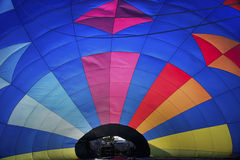 Heißluftballon von innen Stockfotos
