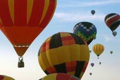 Heißluftballone über Iowa Lizenzfreies Stockfoto
