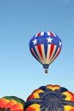 Heißluftballone - Sternenbanner stockbild
