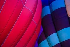 Heißluftballonglühenfestival stockfoto