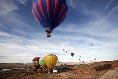 Heißluftballonrennen Stockfoto