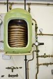 Heißwasser-Zylinder Stockbild