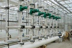 Heißwassersystem Stockfotografie