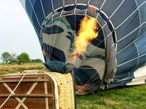 Heißluftballon photgrphed beim Bealton, VA-Flugwesen-Zirkus-Flugschau stockfotos