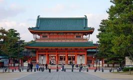 Heian寺庙在京都,日本 图库摄影