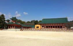 heian jingu寺庙 免版税库存照片