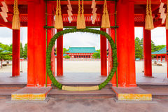 Heian Jingu Shrine Chinowa Kuguri Wreath Door H Royalty Free Stock Photography