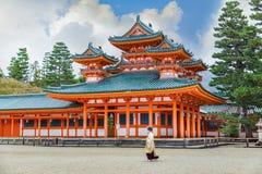 Heian Jingu Shrine in Kyoto Royalty Free Stock Photo