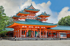 Heian Jingu Shrine in Kyoto Stock Photo