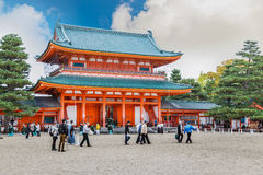 Heian Jingu Shrine in Kyoto, Japan Royalty Free Stock Image