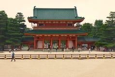 Heian relikskrin, Kyoto, Japan Royaltyfri Bild