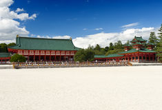 Heian shrine. Beautiful vivid photo of a Heian Shrine in Kyoto, Japan Royalty Free Stock Image