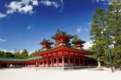 Heian shrine. Beautiful vivid photo of a Heian Shrine in Kyoto, Japan Royalty Free Stock Images