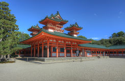 Heian Shrine. The historic Heian Shrine in Kyoto, Japan Royalty Free Stock Photo