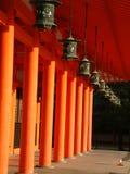 Heian Shrine. Lanterns at Heian Shrine, Kyoto, Japan royalty free stock photography