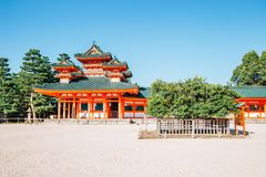 Heian Shrine in Kyoto, Japan. Heian Shrine historical architecture in Kyoto, Japan royalty free stock photography