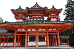Heian Shrine - Kyoto. Heian Shrine in Kyoto Japan royalty free stock images