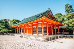 Heian Shrine in Kyoto, Japan. Heian Shrine historical architecture in Kyoto, Japan royalty free stock images