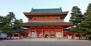 Heian Shrine in Kyoto Royalty Free Stock Photos