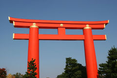 Heian shrine torii Royalty Free Stock Photo