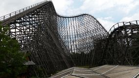 Heide Park - Soltau. Theme / Funpark in germany, rollercoaster made of wood Stock Photography