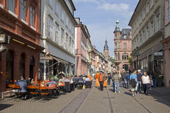 Heideberg main street, Germany Royalty Free Stock Images