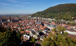 Heidelberg. View over the old town of Heidelberg in Germany Stock Image