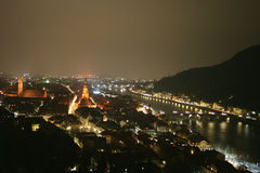 Heidelberg. City as viewed by night Royalty Free Stock Photography