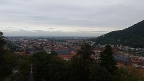 Heidelberg from above. With a view of the old Town Stock Photography